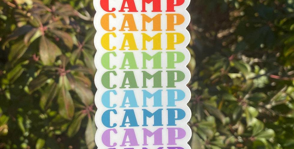 Camp Retro Rainbow Sticker