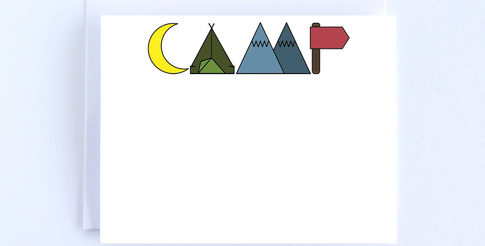 Camp Lettering - Boxed Set of 10