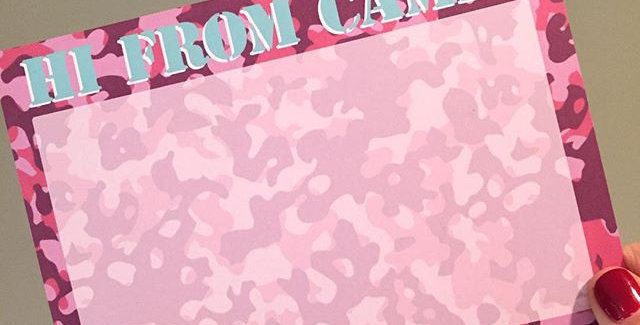 Pink Camo Camp Stationery