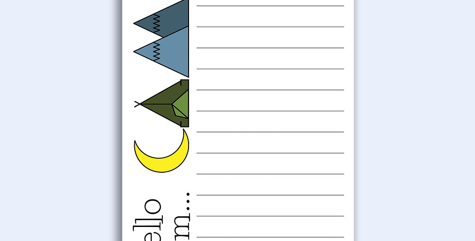 Camp Lettering - Loose Notepad Sheets