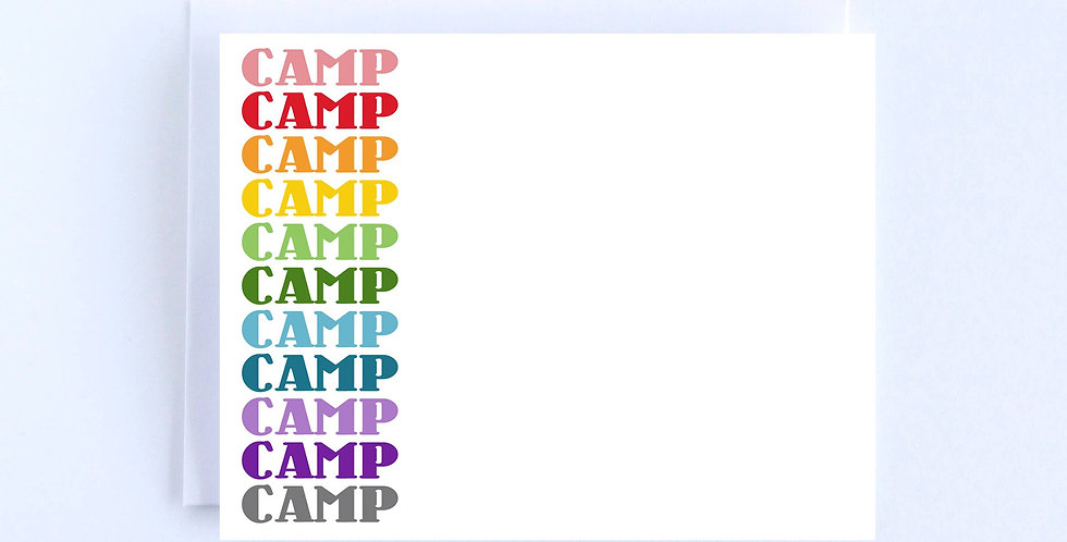 Camp Retro Rainbow Letters - Boxed Set of 10