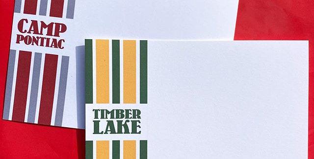 Vintage Inspired Stripe Camp Stationery