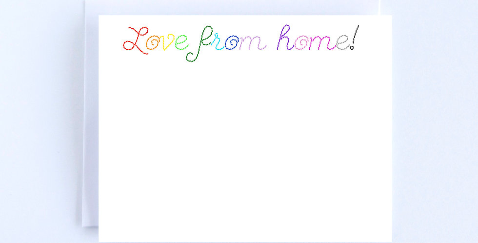 Rainbow Stitch Lettering - Boxed Set of 10