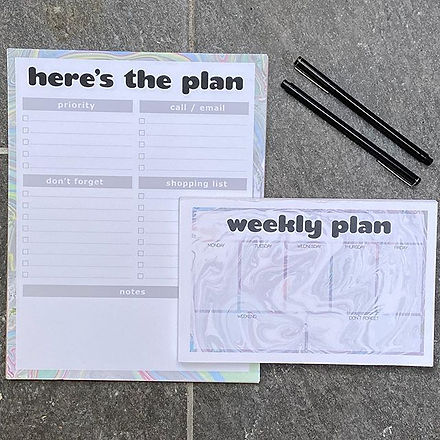 New week, new chance to plan, two ways t