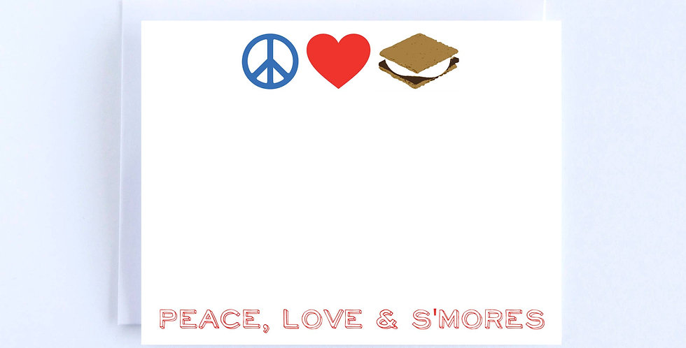 Peace, Love & S'mores - Boxed Set of 10