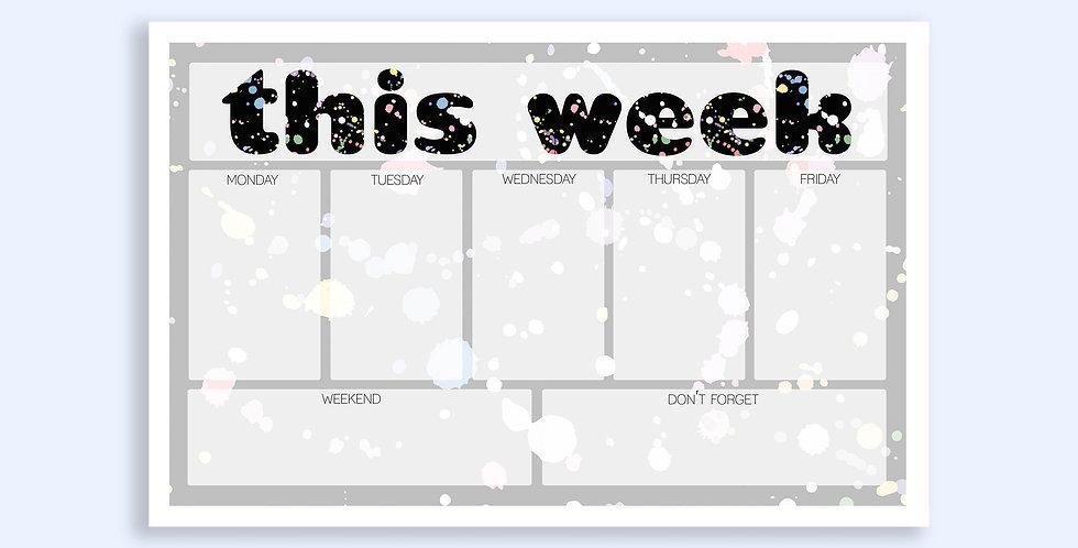 Splatter Weekly Planner