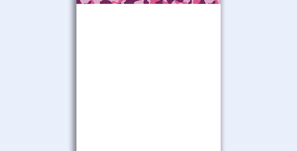 Pink Camo - Loose Notepad Sheets