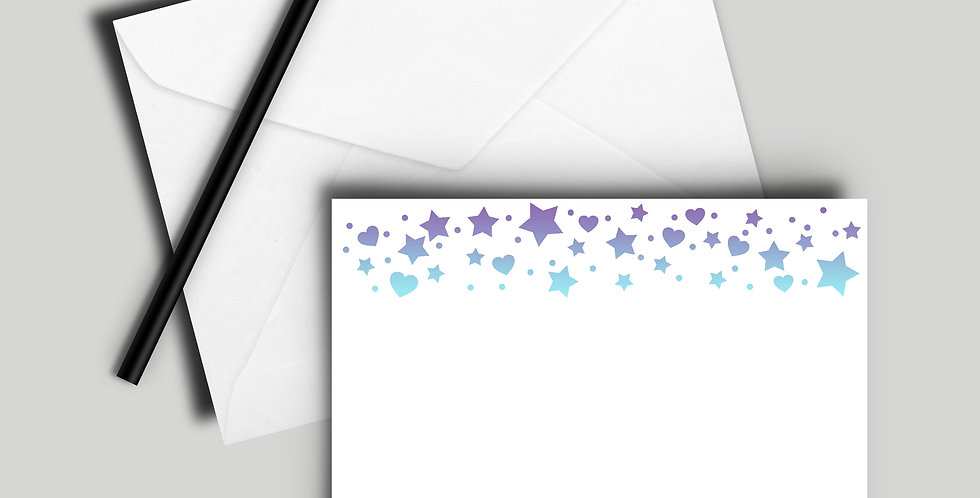 ombre stars notecard