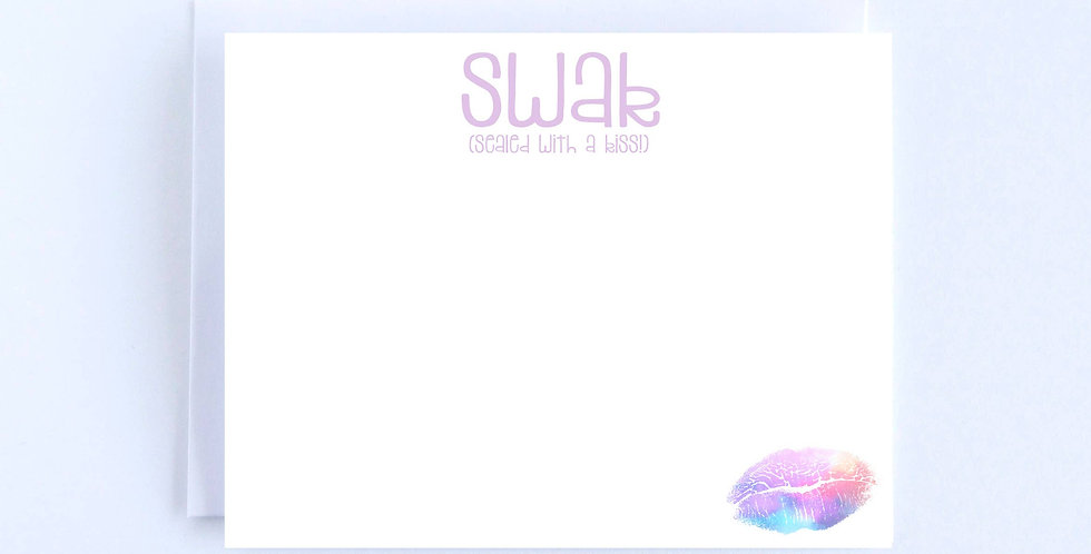 SWAK with lips - Boxed Set of 10