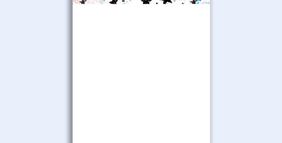 Graffiti Stars - Loose Notepad Sheets