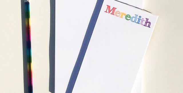 teacher's notepad set