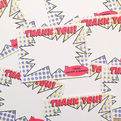 Even superheroes write their thank you n