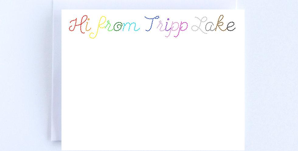 Custom Rainbow Stitch Lettering - Boxed Set of 10