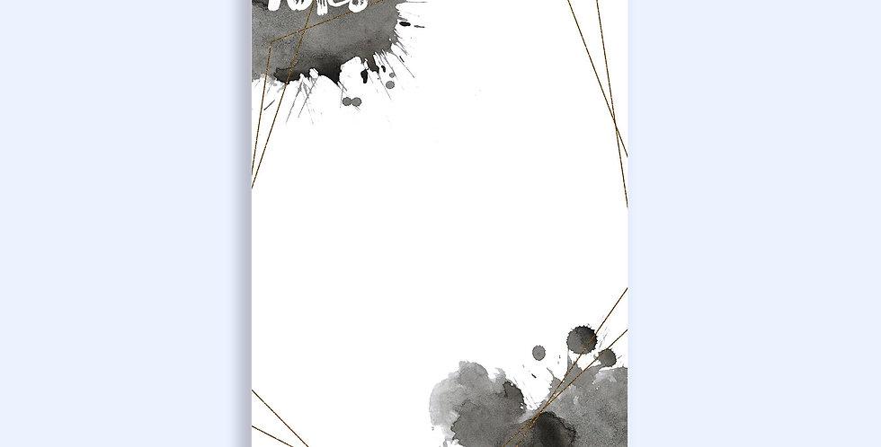Black & Gold Splatter Notepad
