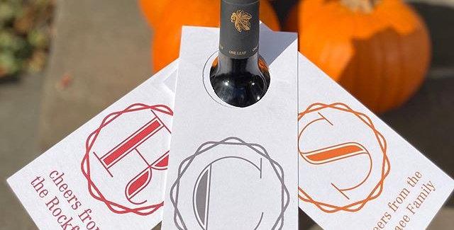 customizable monogram wine tags