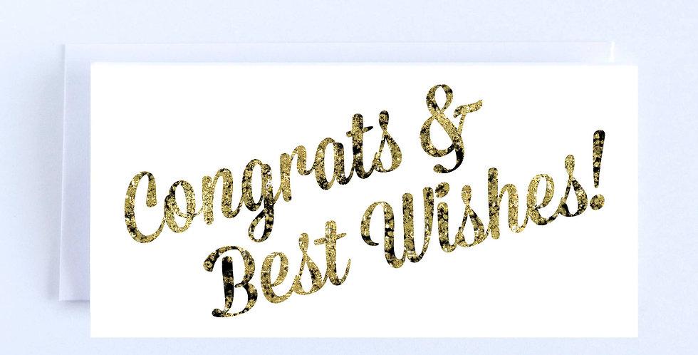 Gold Sparkle Congrats - Boxed Set of 10