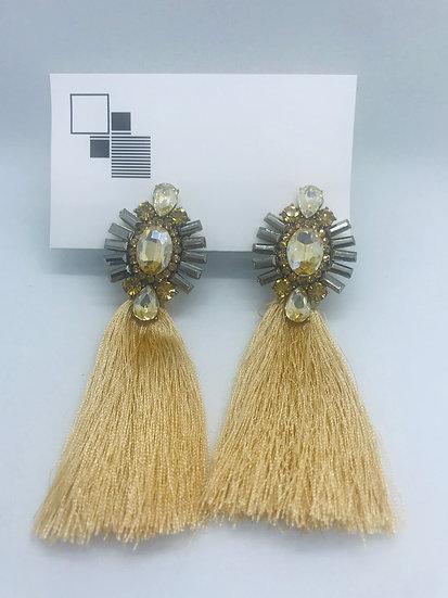 Bedazzle Tassel Earrings