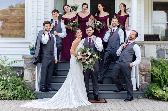 Holly Vault Wedding   Maroon Burgundy Color Pallette