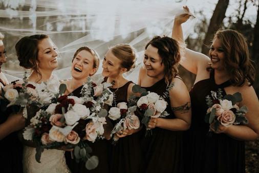 Moody Burgundy Blush Fall Michigan Wedding