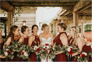 Traverse City Michigan Summer Burgundy and Blush Wedding