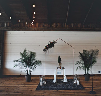 Bohemian Tropical Wedding Ceremony