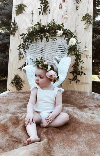Bohemian Wild Baby Shower Floral Flower Crown