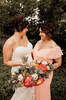 Coral Charm Poeny Bridal Bouquet