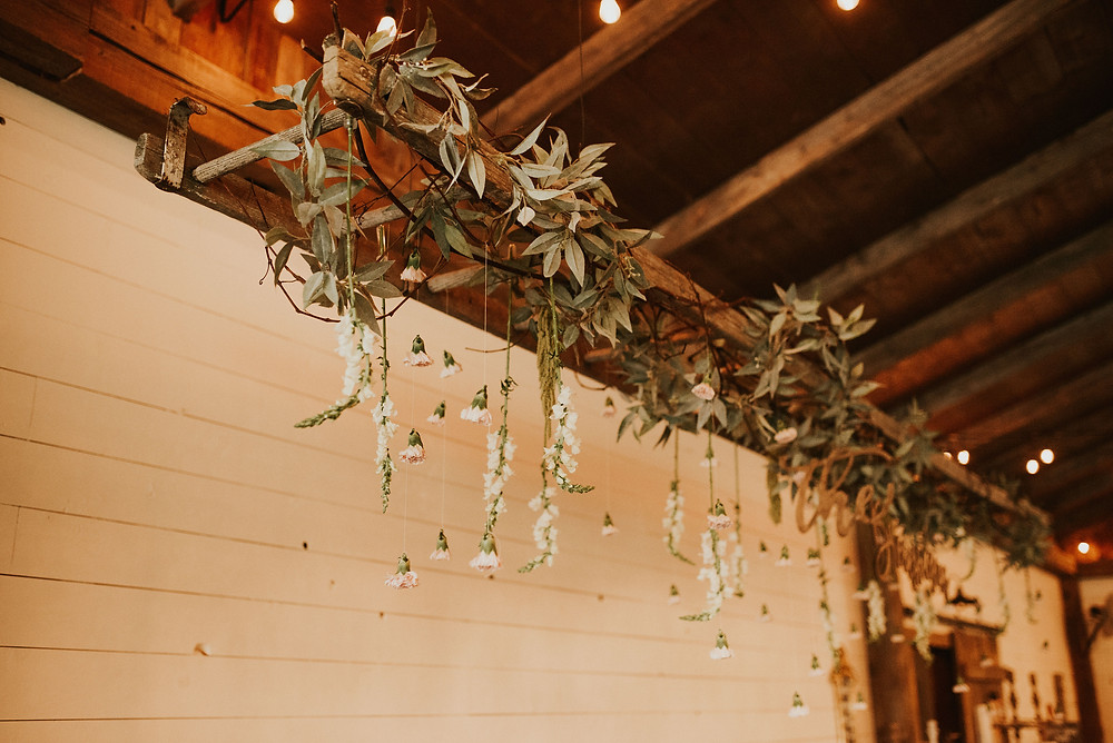 rustic ladder flower arrangment