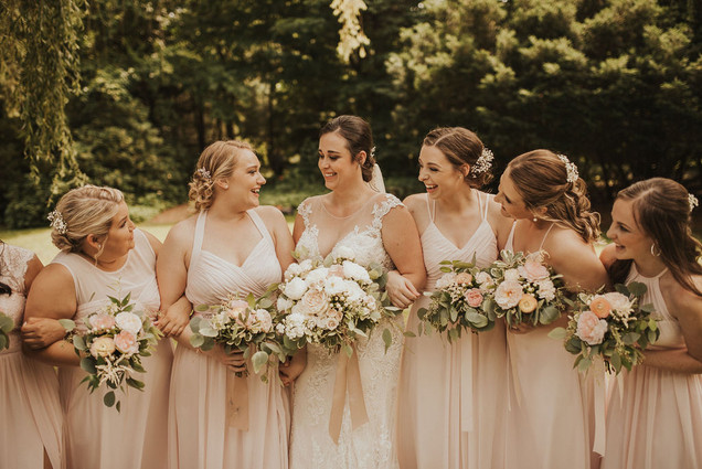 Bridal Party Inspiration | Traditional Garden Wedding Inspiration | Blush Color Pallette
