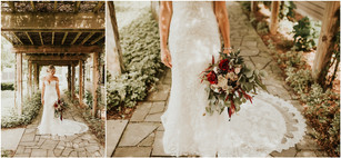 Traverse City Michigan Summer Boho Burgundy Red Muted Toned Bridal Bouquet Flowers