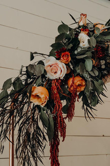 Burgundy Blush Orange Arbor Arrangement