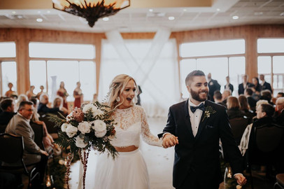 Winter Wedding at Solitude Links in Port Huron, Michigan