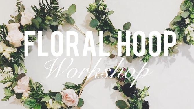 Spring Floral Hoop Wreath Workshop