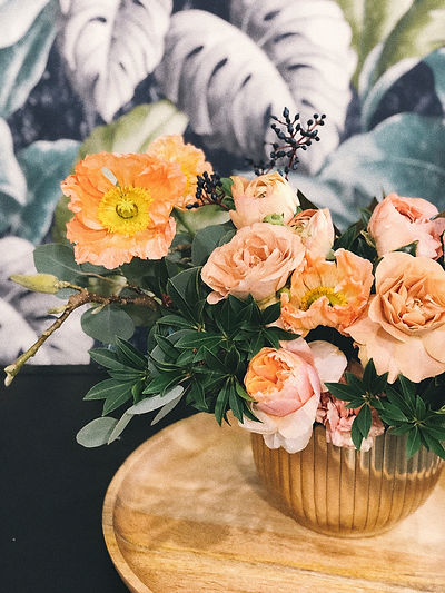 Canva - Peach Peony Flowers and Pink Pop