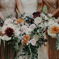 Autumn Bridesmaid Bouquets