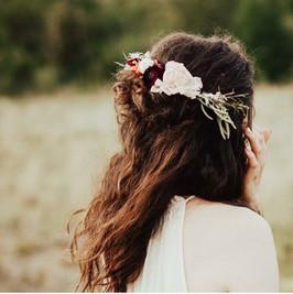 Rustic Wedding Flower Hairpiece