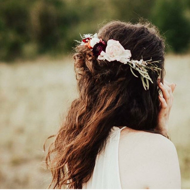 Rustic Wedding Flower Hairpiece