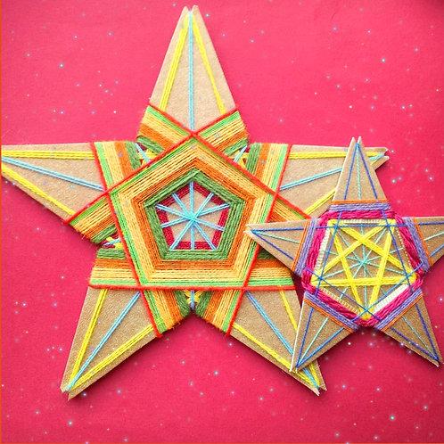 Wow Stars!  String Art kit- Christmas Colours