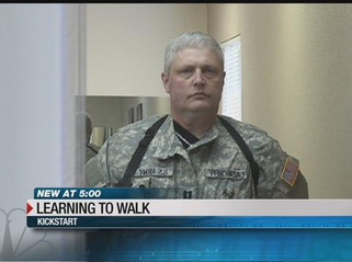 KVOA TV Feature: Arizona veteran on the road to walk again with help from new device