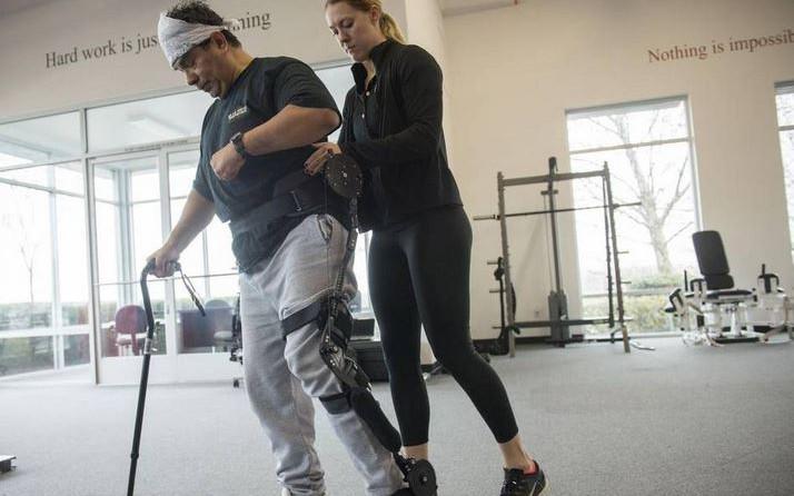 stroke survivor with kickstart