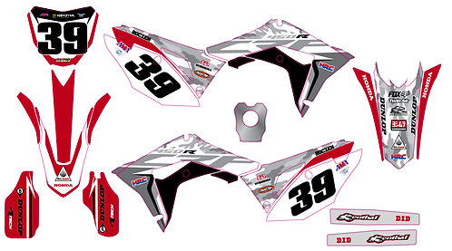 CRF250 2018 CRF450 17-18 %100 scale