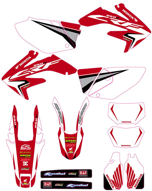 CRF 250X 05-16 %100 scale