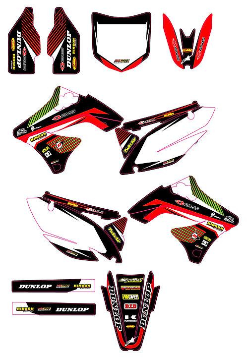 KX 250F 2009 2010 2011 2012 %100 scale