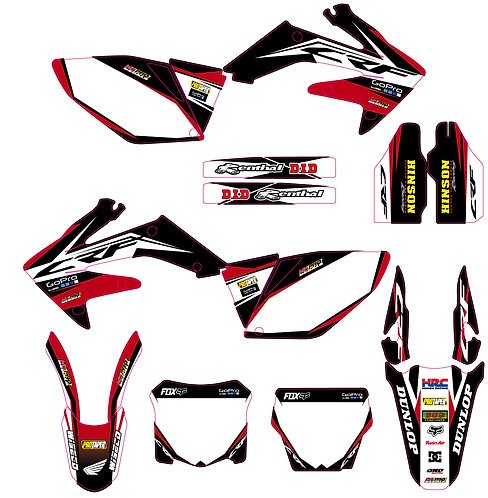 CRF 250R 06-09 %100 scale
