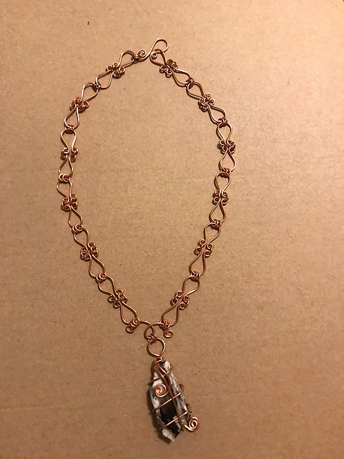 """""""Twisted Copper Handmade Necklace"""" (by Kim Collins)"""