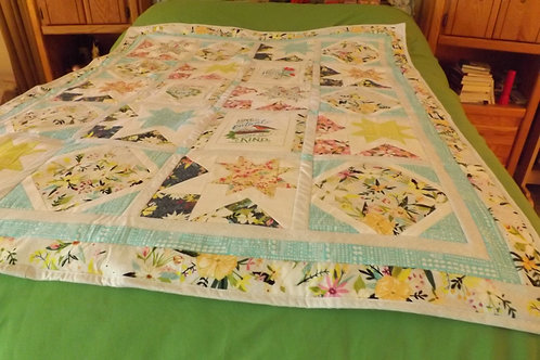 """""""Handmade Quilt Topper or Large Lap Quilt"""" (by Jan Mayr)"""