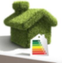 Etiquette énergétique. Maison écologique économique
