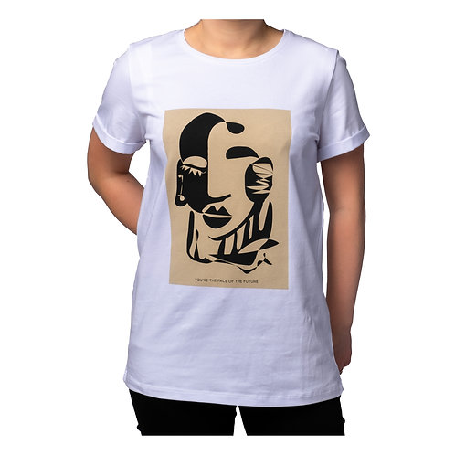 Face of the Future printed cotton t-shirt