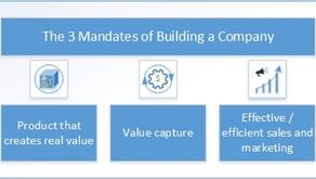 The Three Mandates of Building a Company