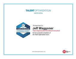 Talent Optimzation Consultant Certificat